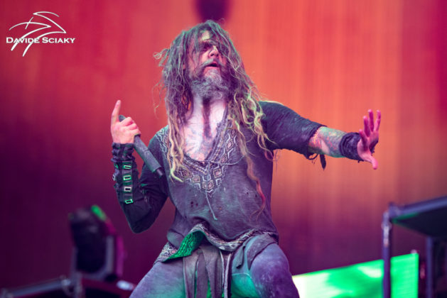 Picture of Rob Zombie in concert taken by Davide Sciaky