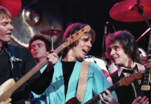 Picture of the classic rock band The Babys in concert taken in analog in 1980 by music photographer Bill O'Leary