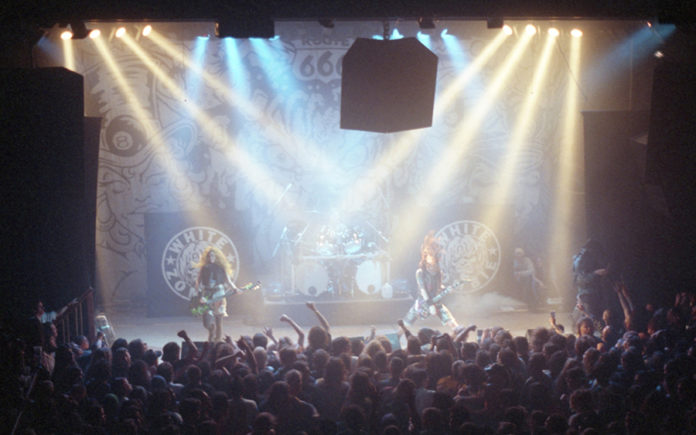 Picture of the heavy metal band White Zombie in concert taken in the 90s by Bill O'Leary