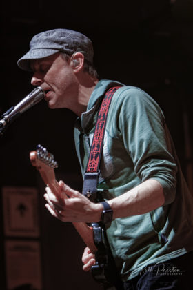 Picture of the rock band Umphrey's McGee in concert taken by Ruth Preston