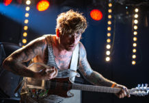 Picture of Thee Oh Sees in concert taken by Ian Graham