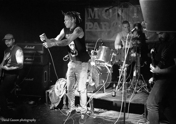 Picture of the punk band Sick Crap in concert taken by David Gasson