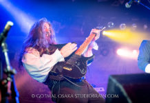 Picture of the band Skyclad in concert taken by Go Imai