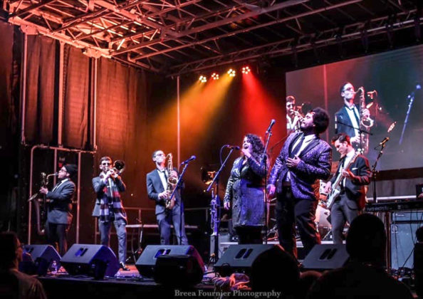 Picture of the band Savants of Soul in concert taken by Breea Fournier