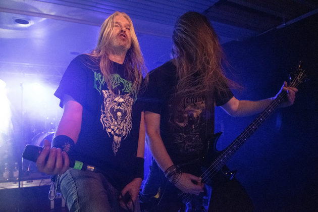 Picture of the band Asphyx in concert taken by Lennart Håård