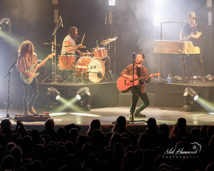 Picture of the band Lanco in concert taken by Nick Hammonds