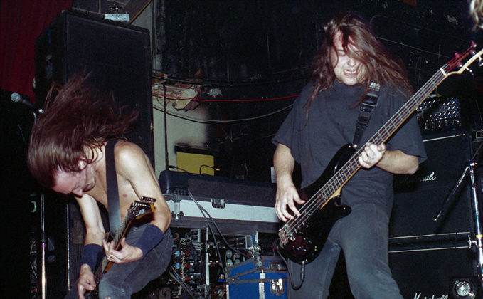 Picture of Paradise Lost in concert taken in analog by Bill O'Leary