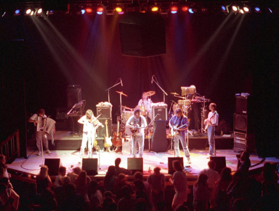 Picture of Leftover Salmon in concert by Bill O'Leary