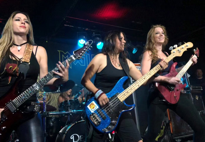 Picture of The Iron Maidens in concert by Bill O'Leary