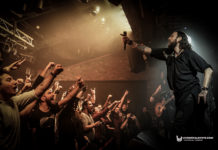 Picture of Orphaned Land in concert by music photographer Burak Baban