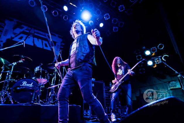 Picture of Voivod in concert with photography by Aki Fujita Taguchi