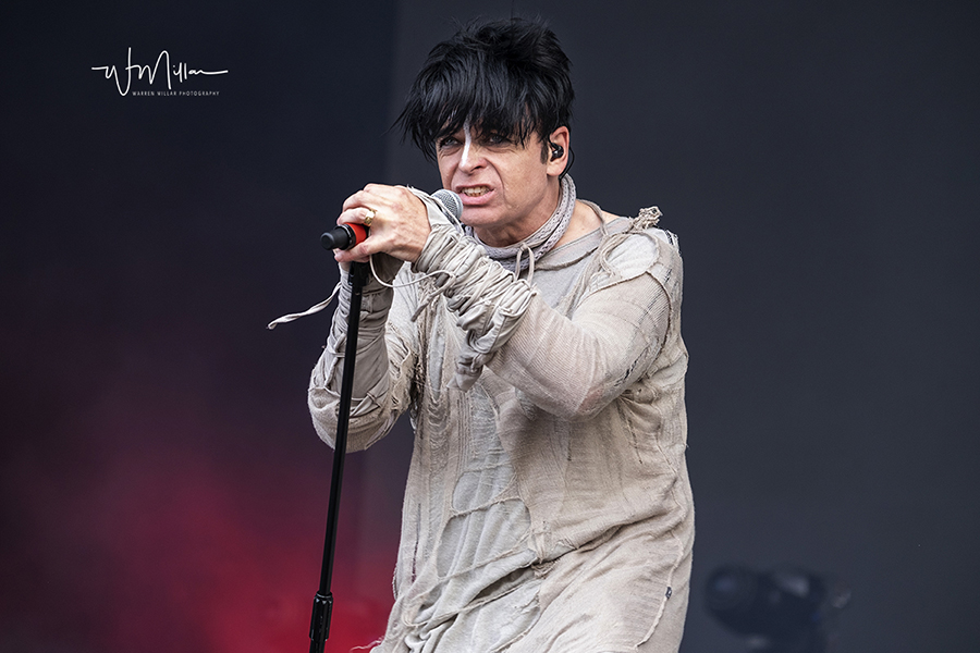 Gary Numan in concert by England concert photographer Warren Millar