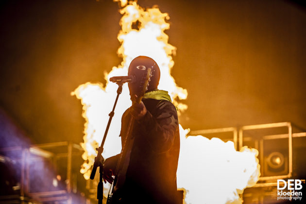 Picture of Twenty One Pilots in concert with photography by Deb Kloeden