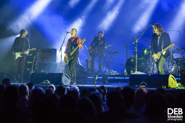 Picture of The Church in concert with psychedelic rock concert photography by Deb Kloeden