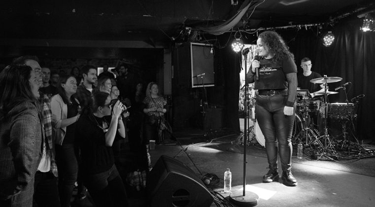 Picture of Aine Cahill in concert with Pop music photography by Danni Fro