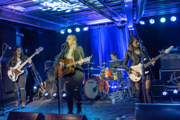 Picture of The Secret Destroyers in concert with Indie pop photography by Jennifer Mullins
