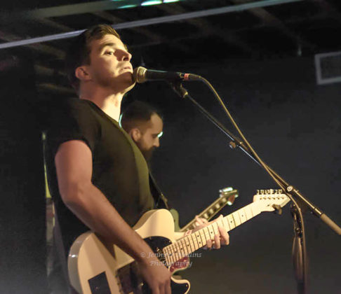 Picture of El West in concert with alternative rock music photography by Jennifer Mullins