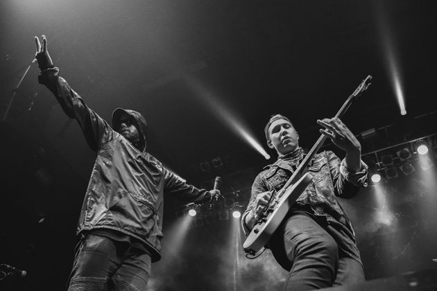 Picture of Attila in concert with metalcore music photography by Vivian Danielle