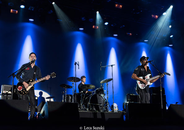 Picture of Tom Morello in concert with Rock guitarist music photography by Leca Suzuki