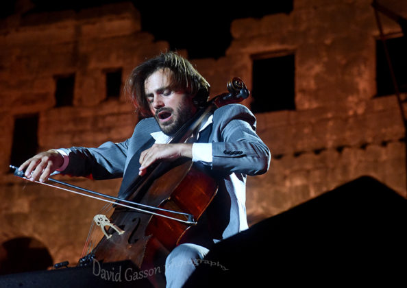 Picture of Stjepan Hauser in concert with gig photography by David Gasson