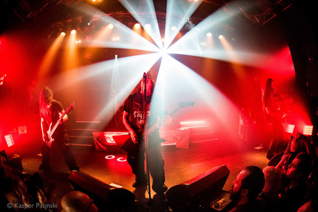 Picture of Hypocrisy in concert with Death metal music photography by Kasper Pasinski