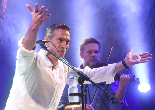 Picture of Massimo in concert with pop music photography by David Gasson