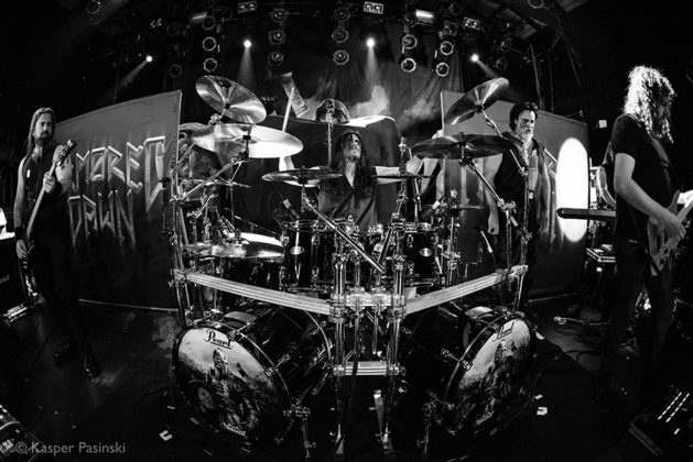 Picture of Armored Dawn in concert with Heavy metal photography by Denmark music photographer by Kasper Pasinski