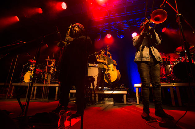 Picture of Kamasi Washigton in concert by Poland Music and Pit photographer Norbert Burkowski