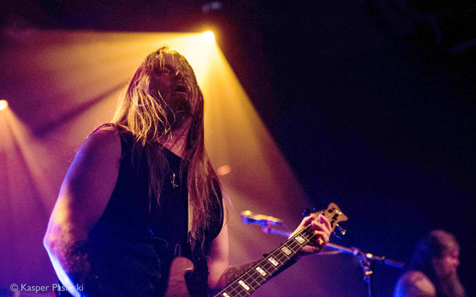 Picture of Extreme Metal music band Enslaved in concert by Denmark Music and Pit photographer Kasper Pasinski