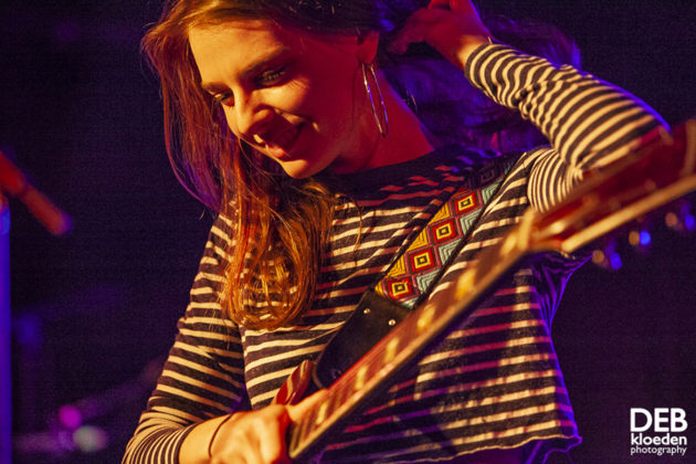 Picture of Angie McMahon in concert by Australia music photographer Deb Kloeden