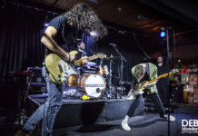 Picture of Kingswood in concert at the @Adelaide Unibar by Australian music photographer Deb Kloeden