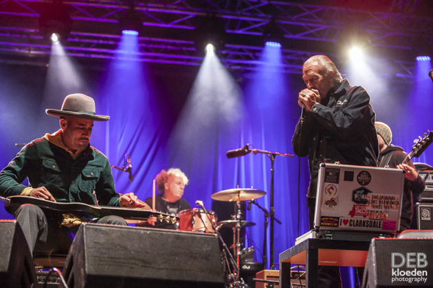 Picture of Ben Harper & Charlie Musselwhite in concert at the Splendour in the Grass festival  by Australia music photographer Deb Kloeden