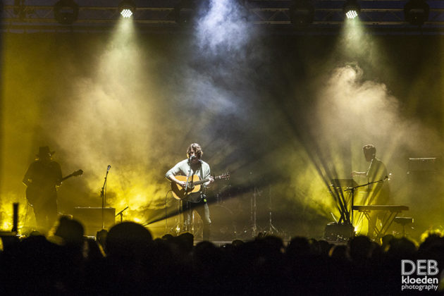Picture of Dean Lewis in concert at the Splendour in the Grass festival by Australia music photographer Deb Kloeden