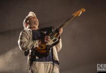 Picture of DMA'S in concert by Australia music photographer Deb Kloeden