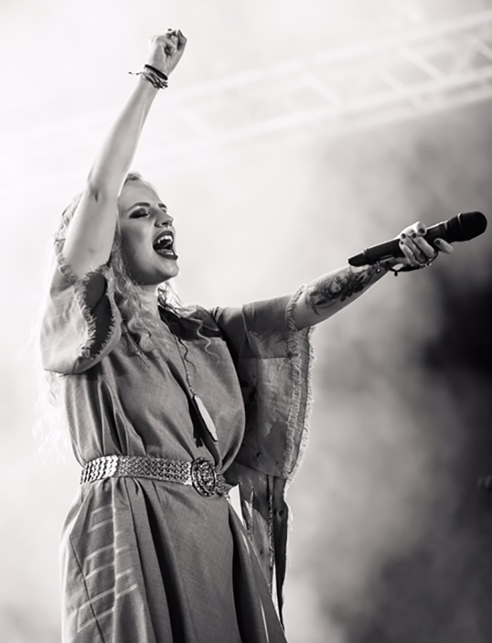 Picture of Haloo Helsinki! in concert at the Suomipop Festival by Finland music photographer Juha Oksa