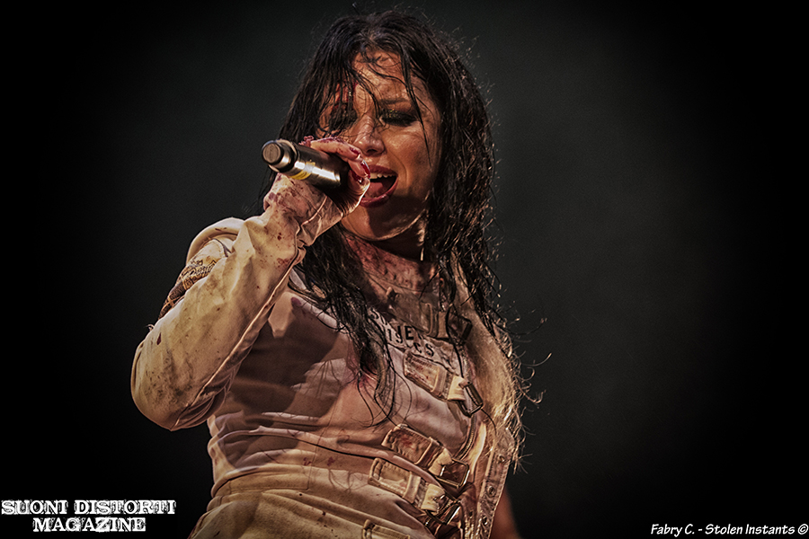 Picture of Cristina Scabbia & Lacuna Coil in concert at Filagosto Festival by Milan Music and Pit photographer Fabry C ~ Stolen Instants