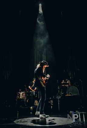The Lumineers in concert at Fiddlers Green in Greenwood Village, Colorado by Denver music photographer Nikolai Puc