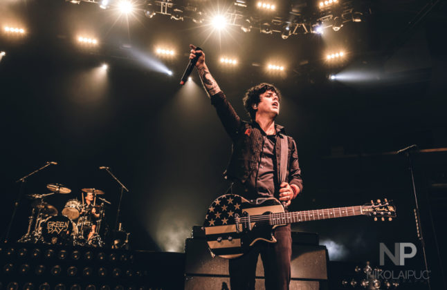 Picture of Greenday in concert at The 1stBank Center in America by Denver music photographer Nikolai Puc