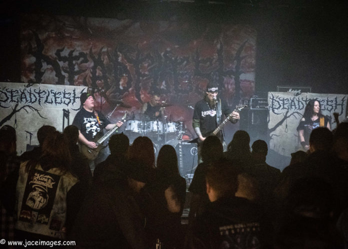 Picture of Deadflesh at Royal Metal Fest 2018 by Denmark music photographer Jason Champney