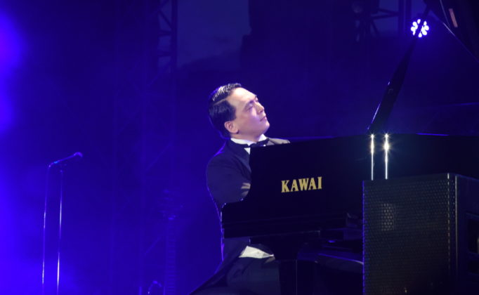 Picture of Muye Wu in concert by David Gasson