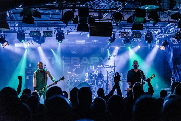 Picture of Therapy in concert with rock music photography by Oskari Mäkisarka