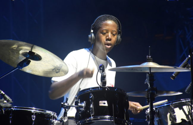 Picture of Moses Boyd at the Dimensions festival by David Gasson