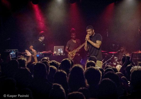 Picture of Mick Jenkins in concert taken by Denmark music photographer Kasper Pasinski