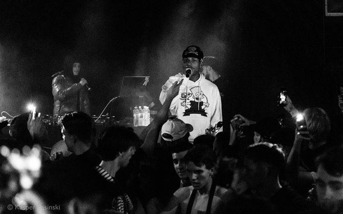Picture of the Night Lovell gig in Denmark with photography by Kasper Pasinski
