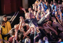 Pictures of Pop Will Eat Itself in concert by London based music photographer Naomi Dryden-Smith