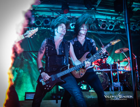 Picture of Battle Beasts in concert by Valerie Schuster the music photographer from Germany