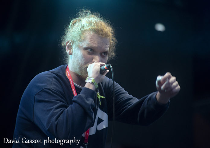 Picture of the hip hop band High5 in concert with photography by the Croatian gig photographer David Gasson