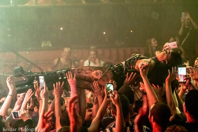 Picture of the rap singer Brooke Candy in concert taken by the music photographer Omer Keidar