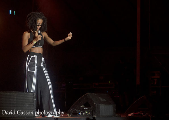 Picture of the singer Iamddb in concert at the Sea Star festival with photography by David Gasson