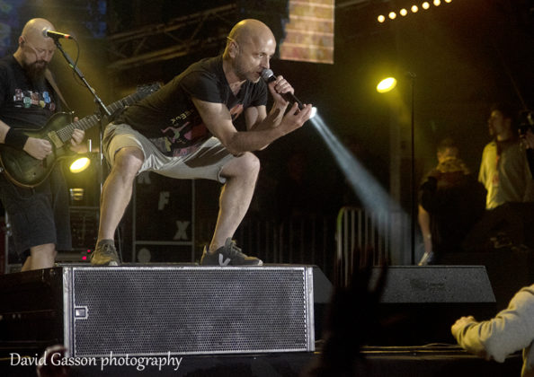 Picture of the punk rock band Hladno pivo in concert at the Sea Star festival in Croatia with photography by David Gasson